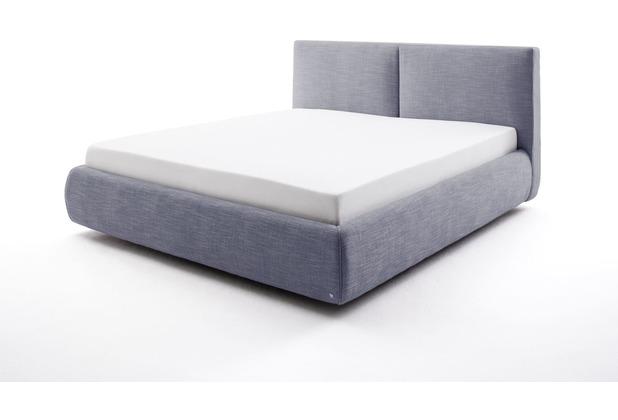 meise möbel Polsterbett Atesio inkl. Bettkasten, inkl. Matratze Blau Härtegrad H3 Bari 7-Zonen-TTFK Matratze 180x200 cm