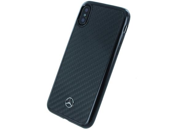 Mercedes-Benz Mercedes Benz, Carbon Hardcover, Apple iPhone X, Schwarz