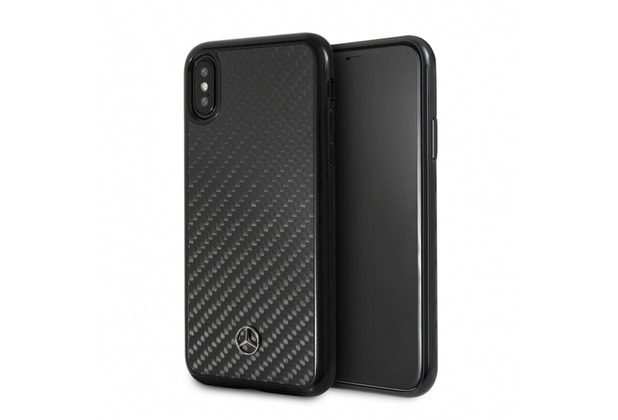 Mercedes-Benz Mercedes Benz, Carbon Hardcover, Apple iPhone XS Max, Schwarz