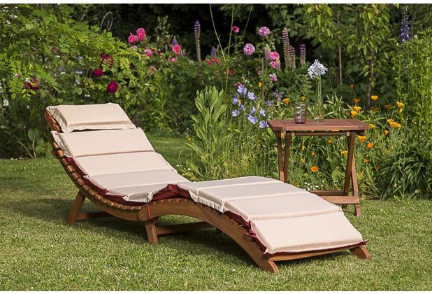 merxx Gartenliegen Set Ipanema 3tlg Rot/Beige Sonnenliege