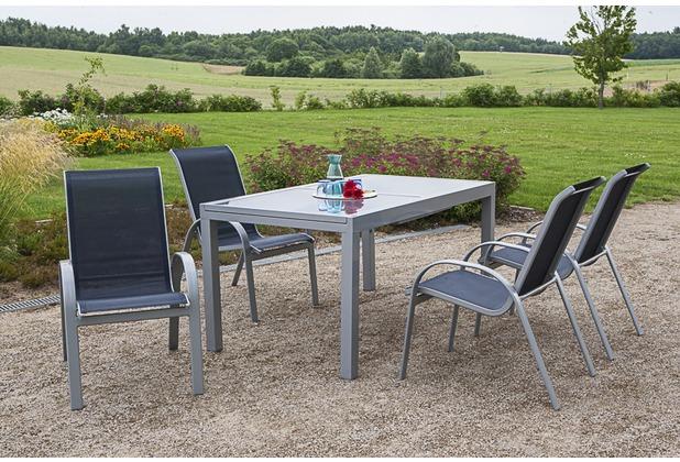merxx Amalfi Set 5tlg., Stapelsessel & 160(220)x90 cm Marineblau