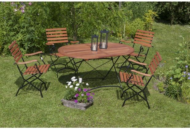 merxx Schlossgarten Set 5tlg., Sessel & ovaler Tisch