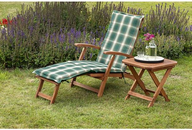 merxx Deckchair Set 3tlg., Liege inkl. Polster und Deckhair