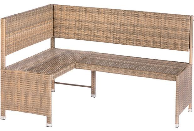 merxx Eckbank, 148 x 100 x 91 cm, inkl. Sitzkissen, grau