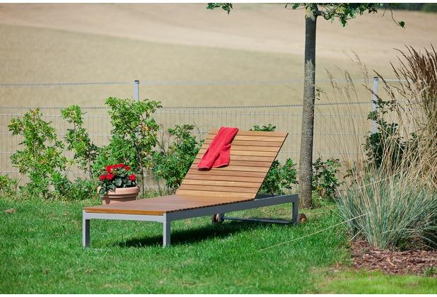merxx Naxos Liege, Rückenlehne mehrfach verstellbar Gartenliege