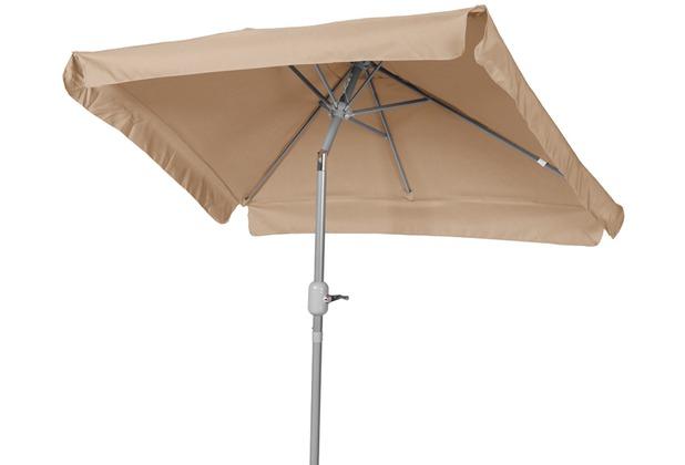 merxx Schirm 120 x 190 cm, 38 mm Rohr, beige