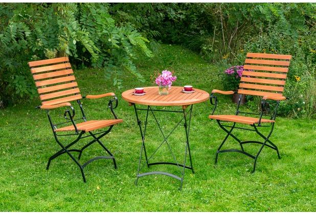 merxx Schlossgarten Set 3tlg., hoher Sessel & runder Tisch