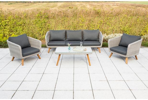 merxx Toscanella Lounge Set, 2 Sessel, 1 Bank, 3-sitzig, 1 Tisch Gartenlounge