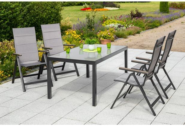 merxx Trivero Set 5tlg., Klappsessel & rechteckiger Tisch