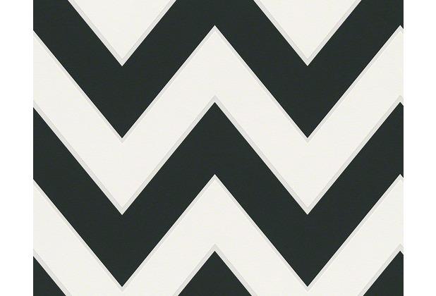 "Michalsky Living Mustertapete \""London\"", Vliestapete, grafisch, schwarz, weiss 10,05 m x 0,53 m"