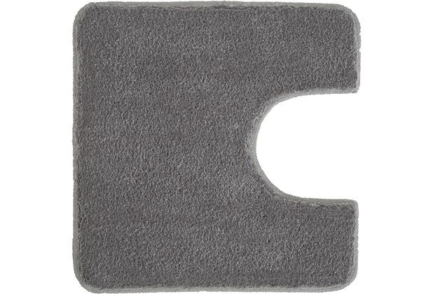 Meusch Badematte Super Soft Anthrazit 50 cm x 50 cm WC-Vorleger mit Ausschnitt