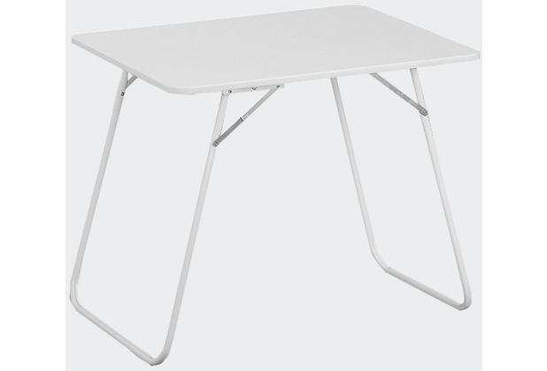 MFG Campingtisch, Stahlrohrgestell weiß, kunststoffbeschichtete Platte weiß, L 80 x B 60 cm