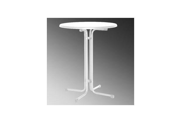 MFG Stehbiertisch, Stahlrohrgestell weiß, Ø 85 x H 110