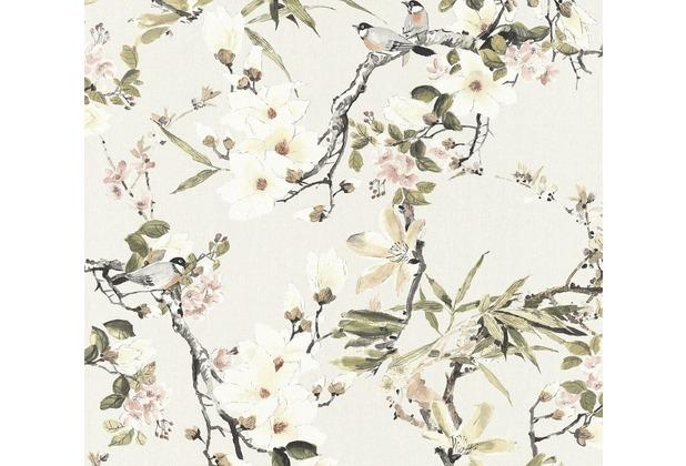 Michalsky Living Vliestapete Dream Again Tapete floral creme beige grün 10,05 m x 0,53 m