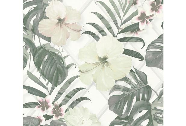 Michalsky Living Vliestapete Dream Again Tapete floral grün weiß grau 365182 10,05 m x 0,53 m