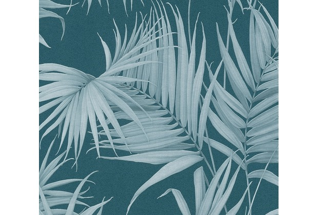 Michalsky Living Vliestapete Dream Again Tapete mit Palmenprint in Dschungel Optik blau grün 10,05 m x 0,53 m