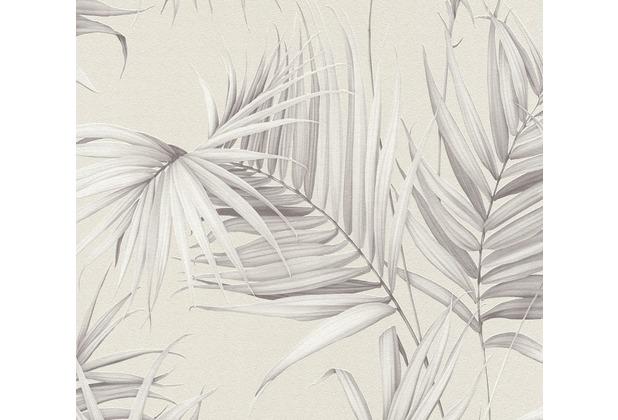 Michalsky Living Vliestapete Dream Again Tapete mit Palmenprint in Dschungel Optik grau beige 10,05 m x 0,53 m