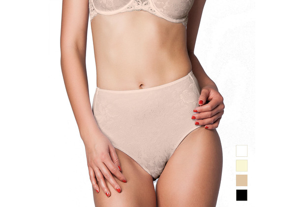 Miss Perfect Minimizer Taillenslip Jacquard Slip Spitze Unterhose Hohe Taille Haut 3XL (48)