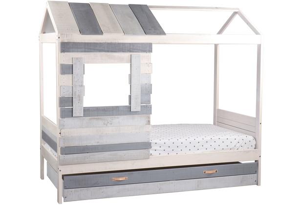 Möbilia Bett für Kinder weiß, grau 12020005