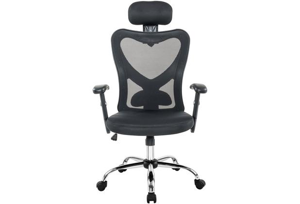 Möbilia Bürostuhl, schwarz-grau schwarz, grau 15020012
