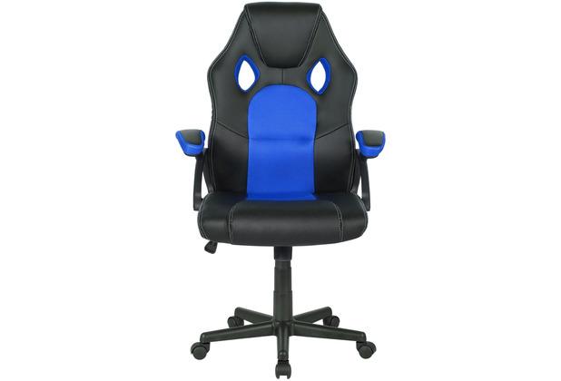 Möbilia Bürostuhl, schwarz/blau schwarz/blau 14020003