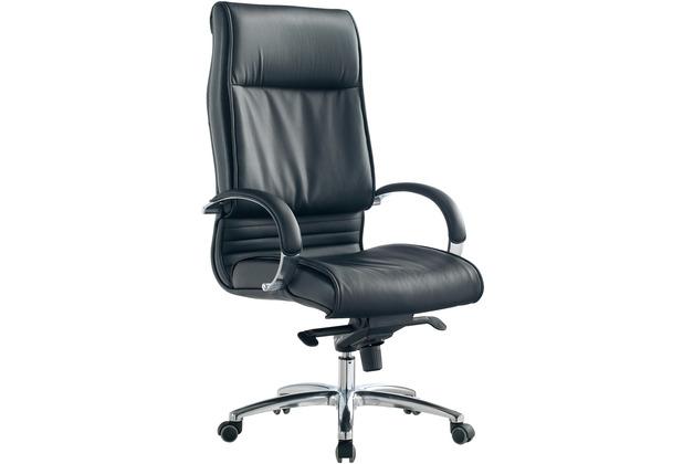 Möbilia Bürostuhl, schwarz schwarz, verchromt 15020014