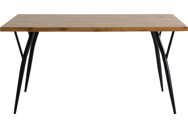 Möbilia Tisch 150x90 cm natur, Beine schwarz 18020006