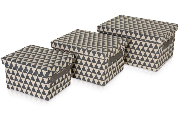 möve Aufbewahrungsboxen  Canvas grey