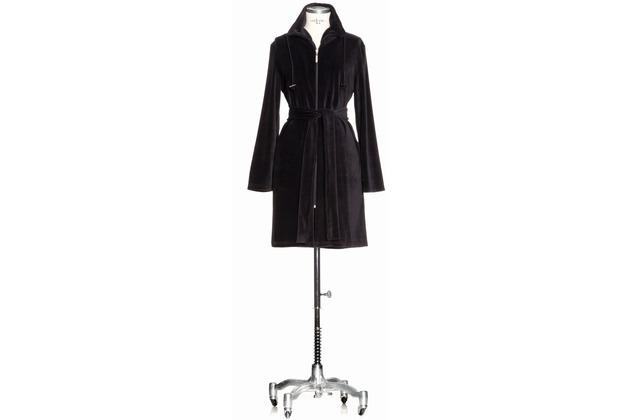 m ve bademantel nicki mantel mit rei verschluss black. Black Bedroom Furniture Sets. Home Design Ideas