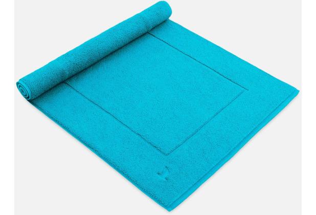 möve Badteppich Basic turquoise 60 x 100 cm