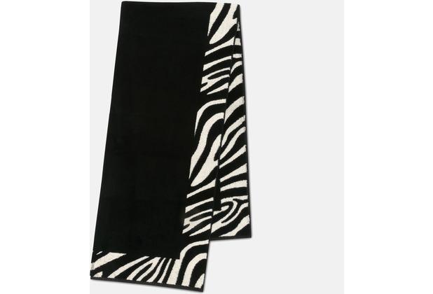 möve Duschtuch Zebra black/ivory 80 x 180 cm