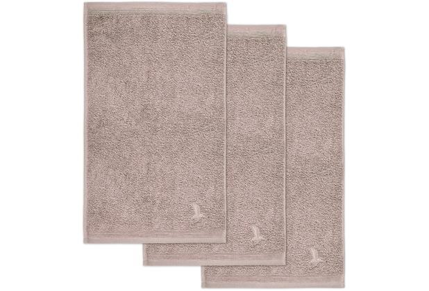 möve Gästetuch Superwuschel 3er-Pack cashmere 30 x 50 cm