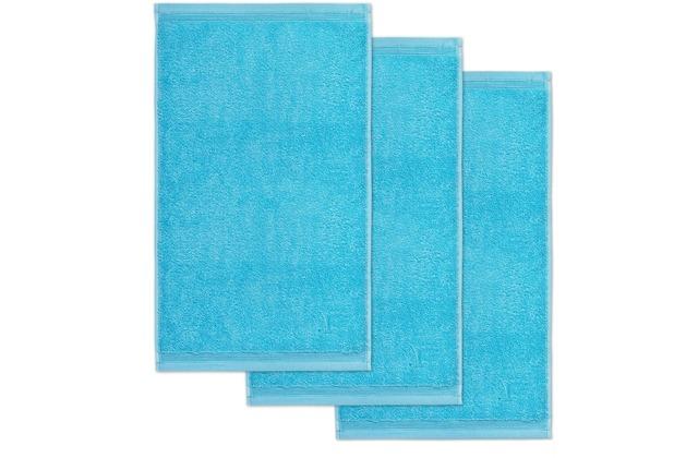 möve Gästetuch Superwuschel 3er-Pack turquoise 30 x 50 cm