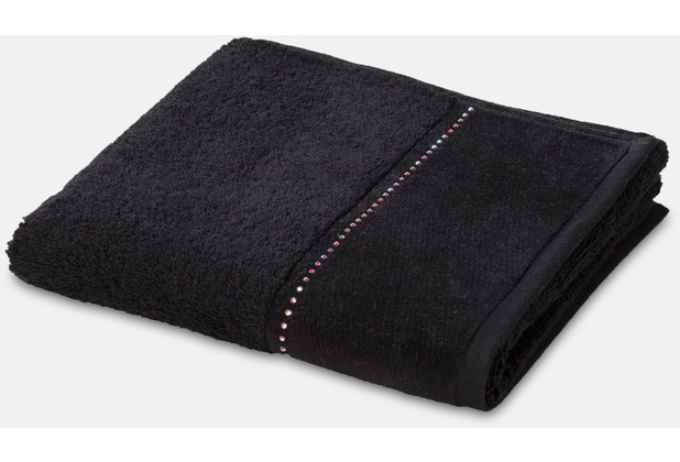 möve Handtuch Crystal Collection Reihe black 50 x 100 cm