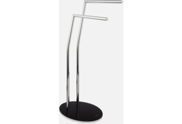 möve Handtuchhalter Stand stainless steel/black 50x23x82cm