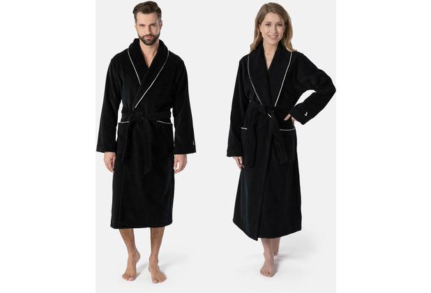 möve Homewear Schalkragenmantel black 3XL
