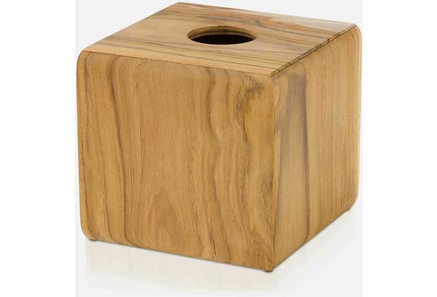 möve Kosmetiktuchbox Teak wood 14x14x13cm