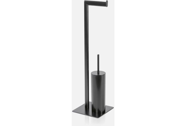 möve Toilettenbürsten-/-papierhalter Velvet black 20x20x71cm