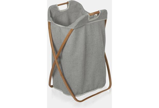 möve Wäschekorb, Bamboo grey