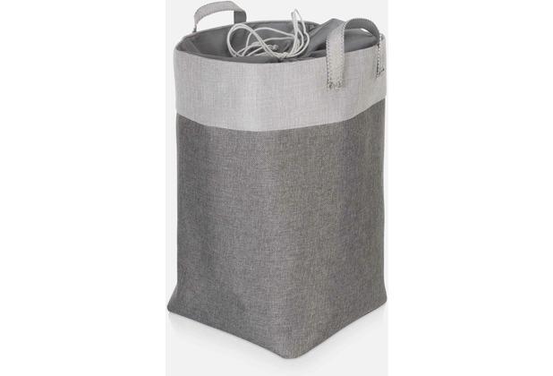 möve Wäschekorb Canvas grey 30 x 50 cm