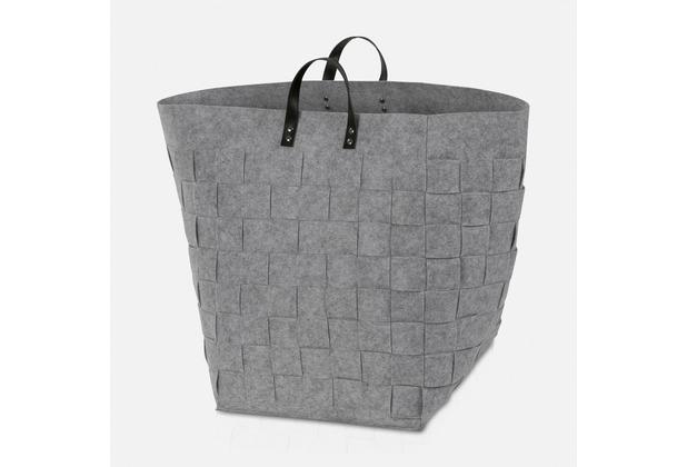 """möve Wäschekorb \""""Grey Flannel\"""" light grey 35x35x50cm"""