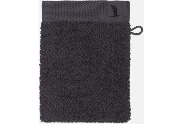 möve Waschhandschuh New Essential Uni graphite 20 x 15 cm