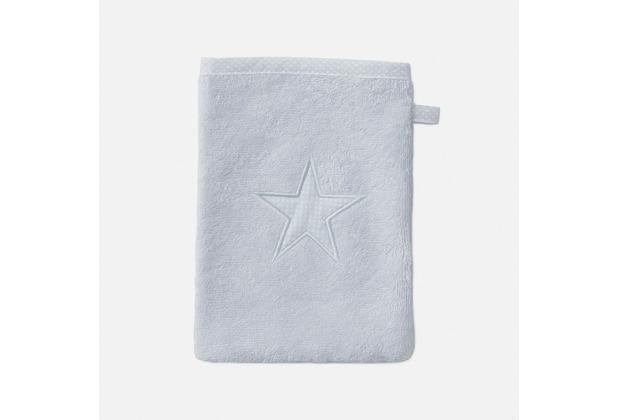 möve Waschhandschuh Stars silver 20 x 15 cm