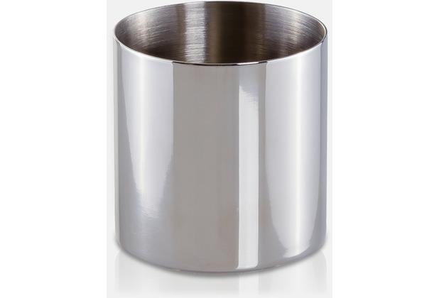 möve Zahnbürstenhalter Deco silver Ø 8 x 8 cm