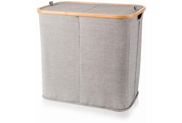 m ve zweigeteilte w schetruhe bamboo grey. Black Bedroom Furniture Sets. Home Design Ideas