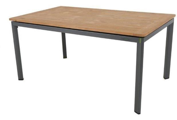 MWH Tisch Alutapo Holz 160x95 cm grau