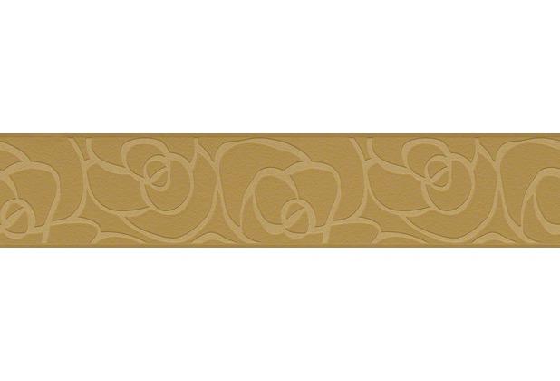 "My home by Raffi Bordüre \""Rose\"", Vlies, braun, metallic 5,00 m x 0,13 m"