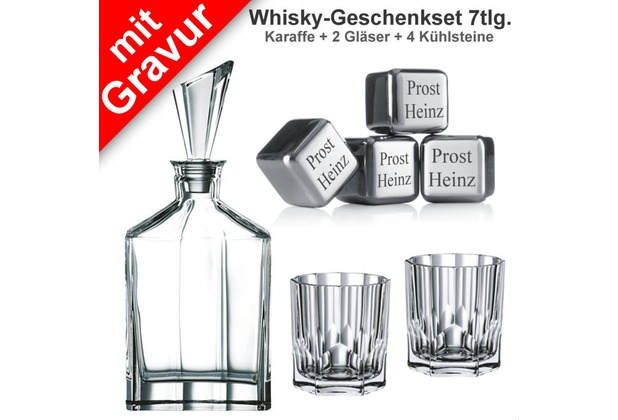 nachtmann whisky geschenkset aspen 7tlg set mit gravur 1. Black Bedroom Furniture Sets. Home Design Ideas