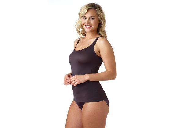 Naomi & Nicole Unterhemd Bauchweg Hemd Body Shaper Shaping Unterwäsche Figurformende Wäsche Schwarz L (42)
