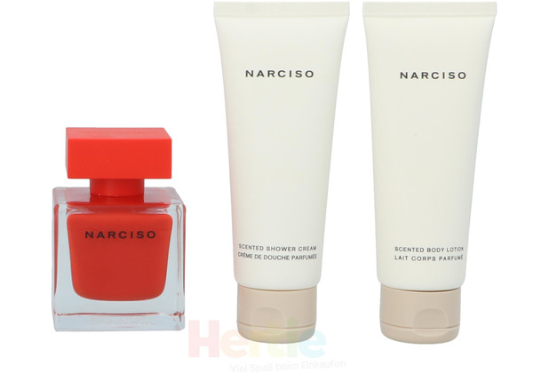Narciso Rodriguez Narciso Rouge Giftset Edp Spray 50ml/Body Lotion 75ml/Shower Gel 75ml 200 ml